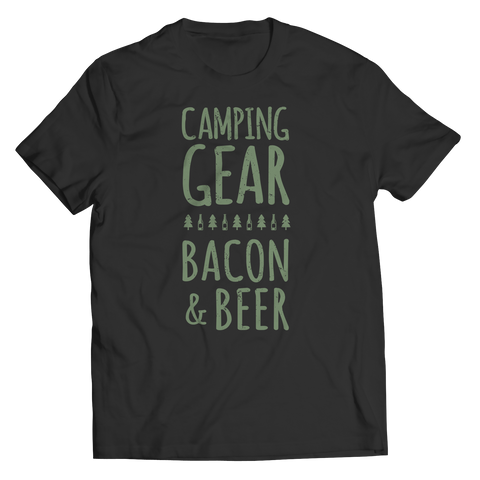 Image of Camping Gear Bacon And Beer