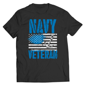 Navy Veteran - US Flag