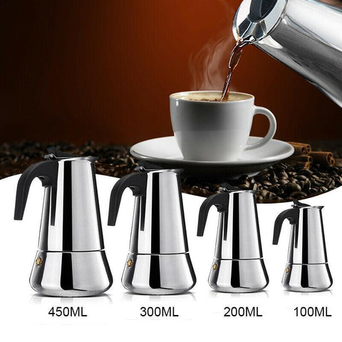 Image of Stainless Steel Portable Espresso Machine