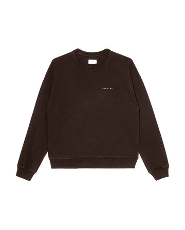 Sunday Crewneck Organic Cotton Earth Brown