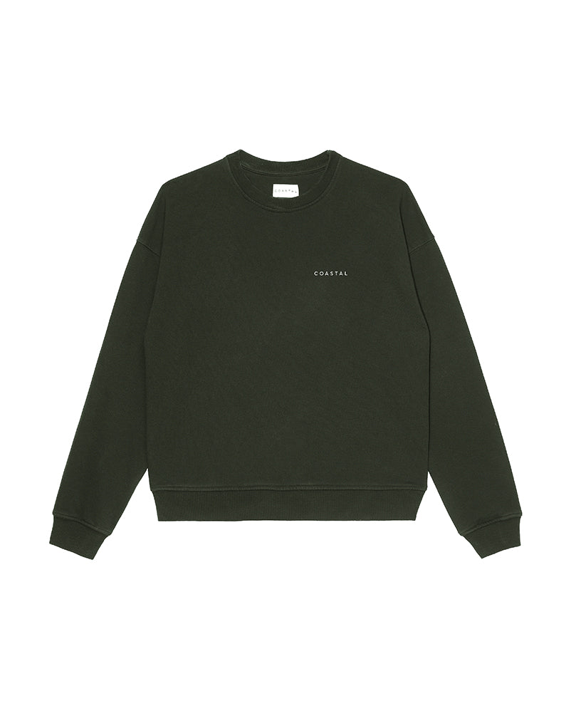 Sunday Crewneck Organic Cotton Forest Green