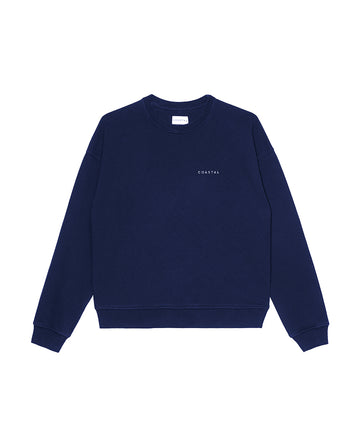 Sunday Crewneck Organic Cotton Ocean Blue