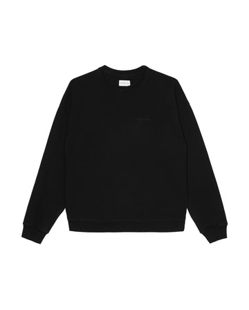 Ludek Oversized Crewneck Organic Cotton Midnight Black