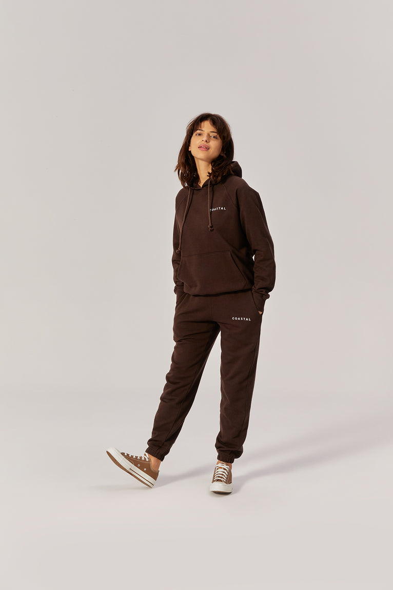 All Day Hoodie Organic Cotton Earth Brown