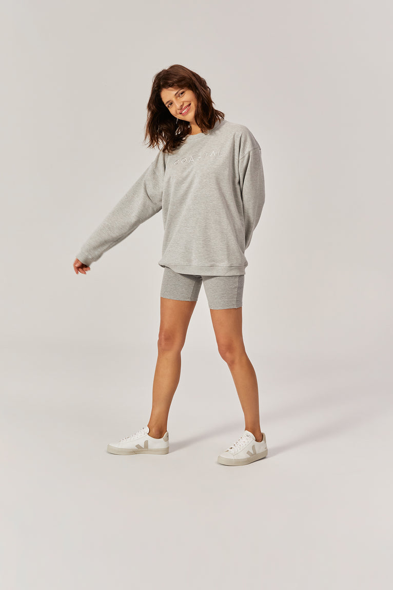 Ludek Oversized Crewneck Organic Cotton Cloudy Grey