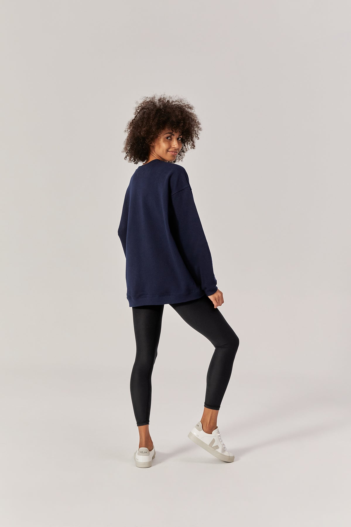 Ludek Oversized Crewneck Organic Cotton Ocean Blue