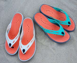 colourful water friendly flip flop