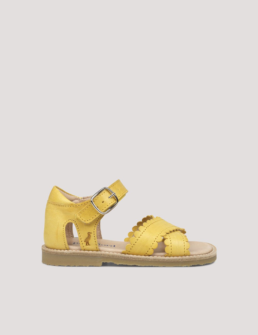 Cross-Over Scallop Sandal Limone