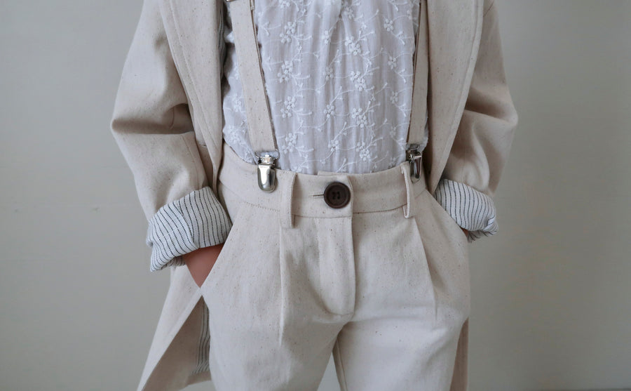 Jean Michel Tailored Suspender Pant Naturel Ècru