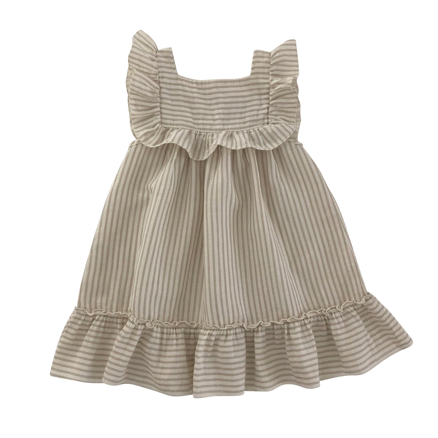 Lina Dress Sandy stripes