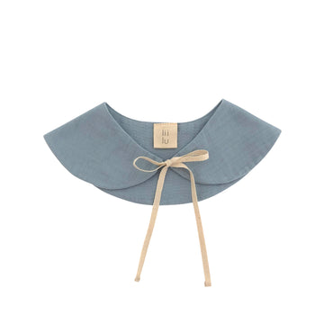 Peter pan collar Bib  Dusty blue