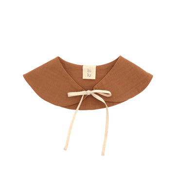 Peter pan collar Bib  Terracotta