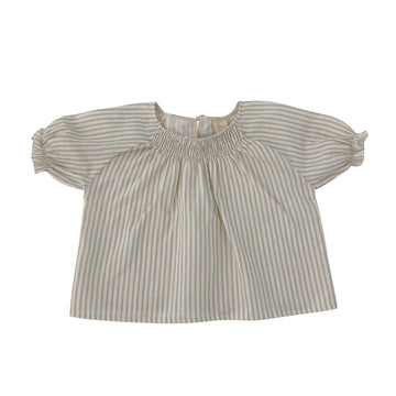 Smocked  Blouse Sandy stripes