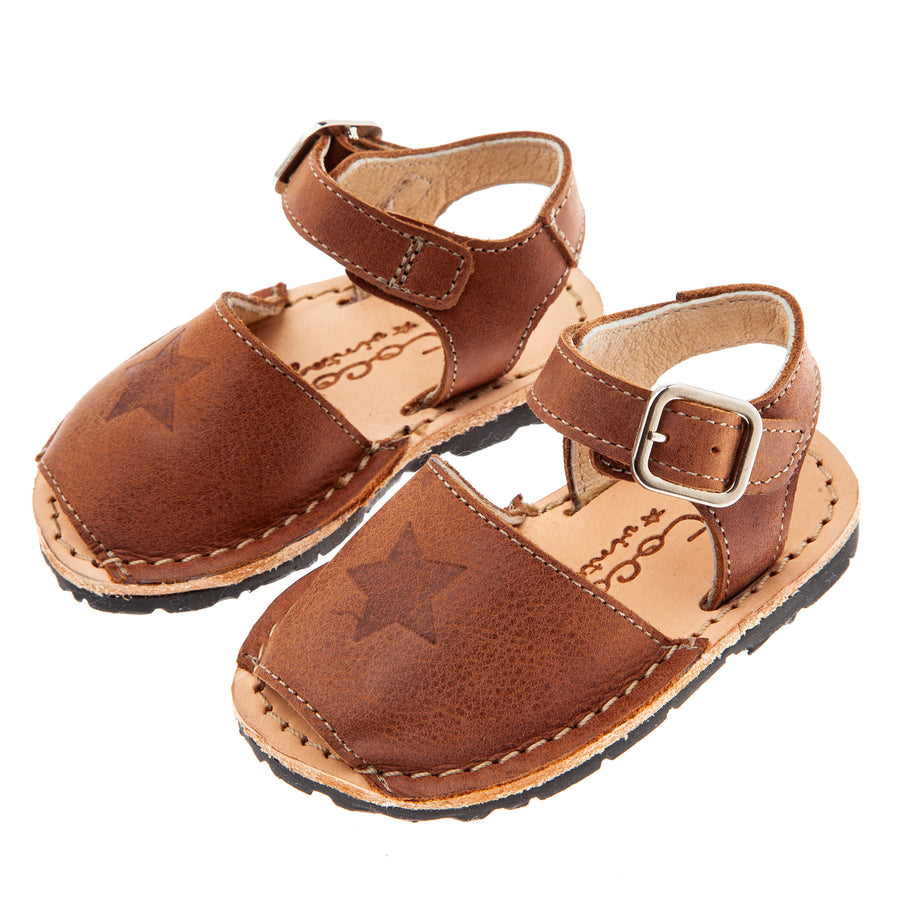 BROWN BABY TOCOTO MENORCAN SANDALS