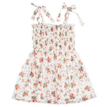 FLOWER DRESS WITH ELASTIC FROUNCED CORP