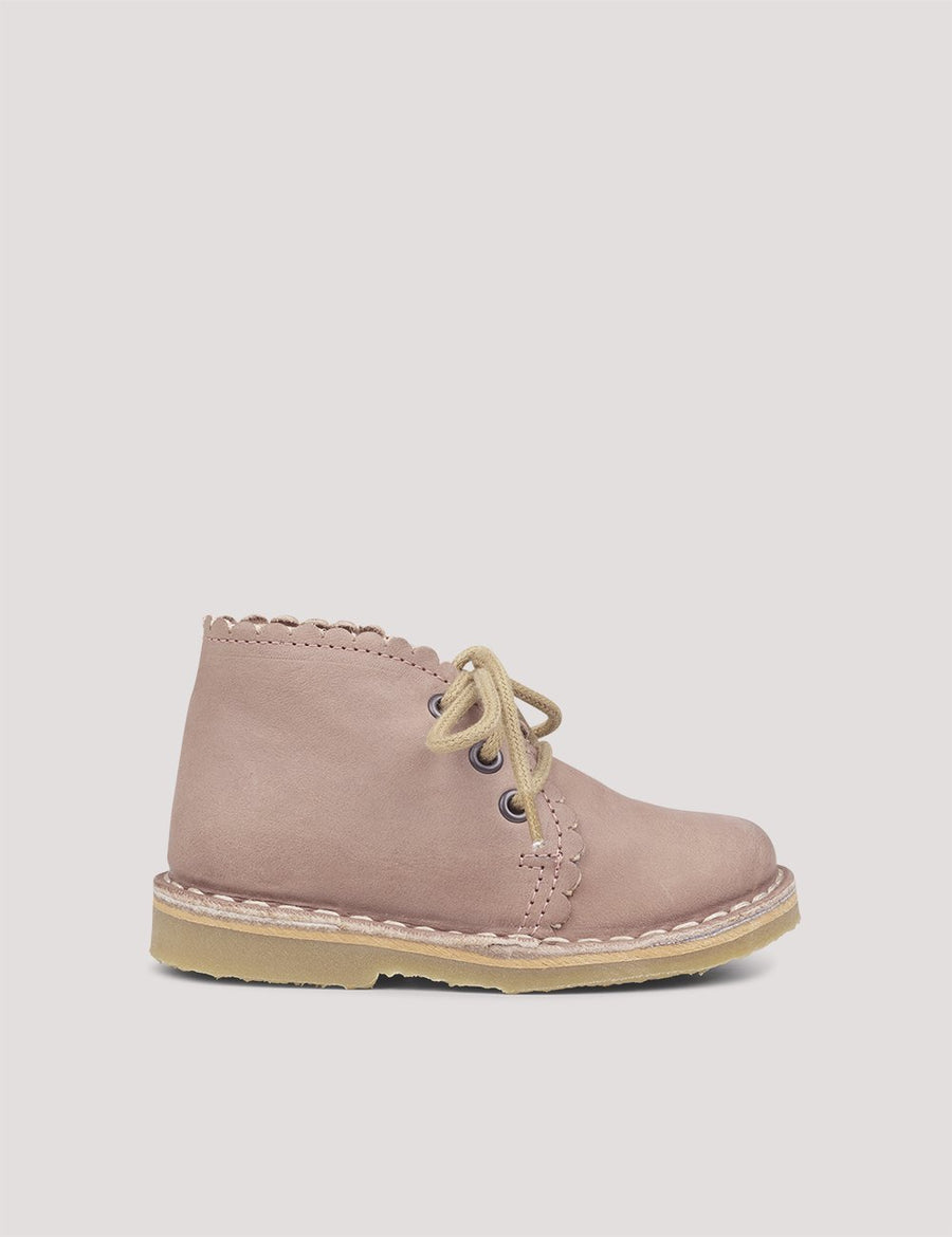 Scallop Boot Old Rose