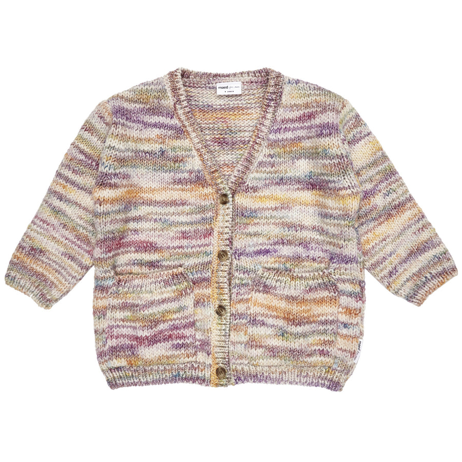 Rainbow Raccoon Knit Cardigan