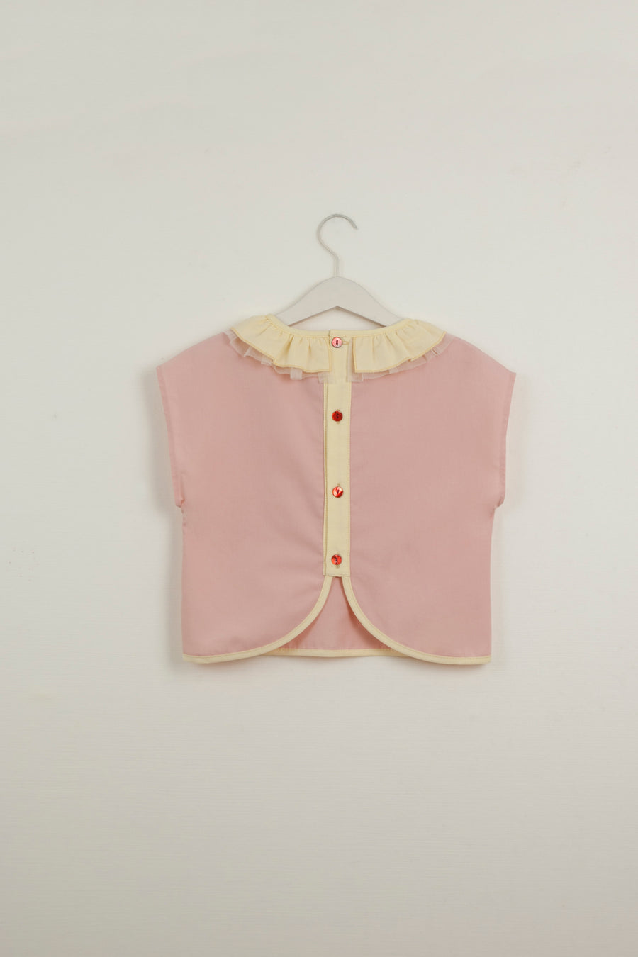 Mod. 18.2 Pink Shirt with Frilled Collar