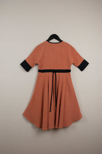 Mod. 24.2 Orange Cape Dress