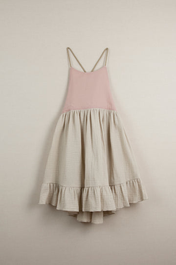 Mod. 29.2 Beige Reversible Dress with Crossover Back
