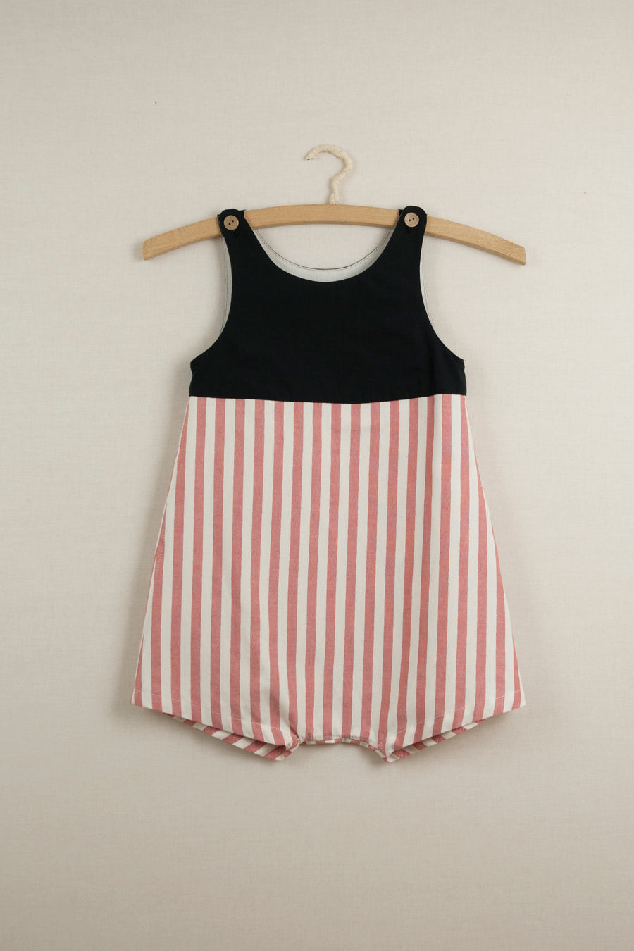 Mod. 4.2 Red Stripes Reversible Dungarees