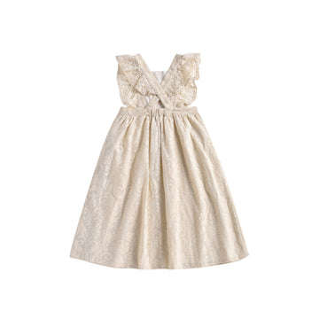 Cosala Dress Cream Baroque Lace