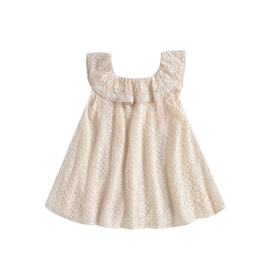 Jonuta Dress Cream Sparkle Lace