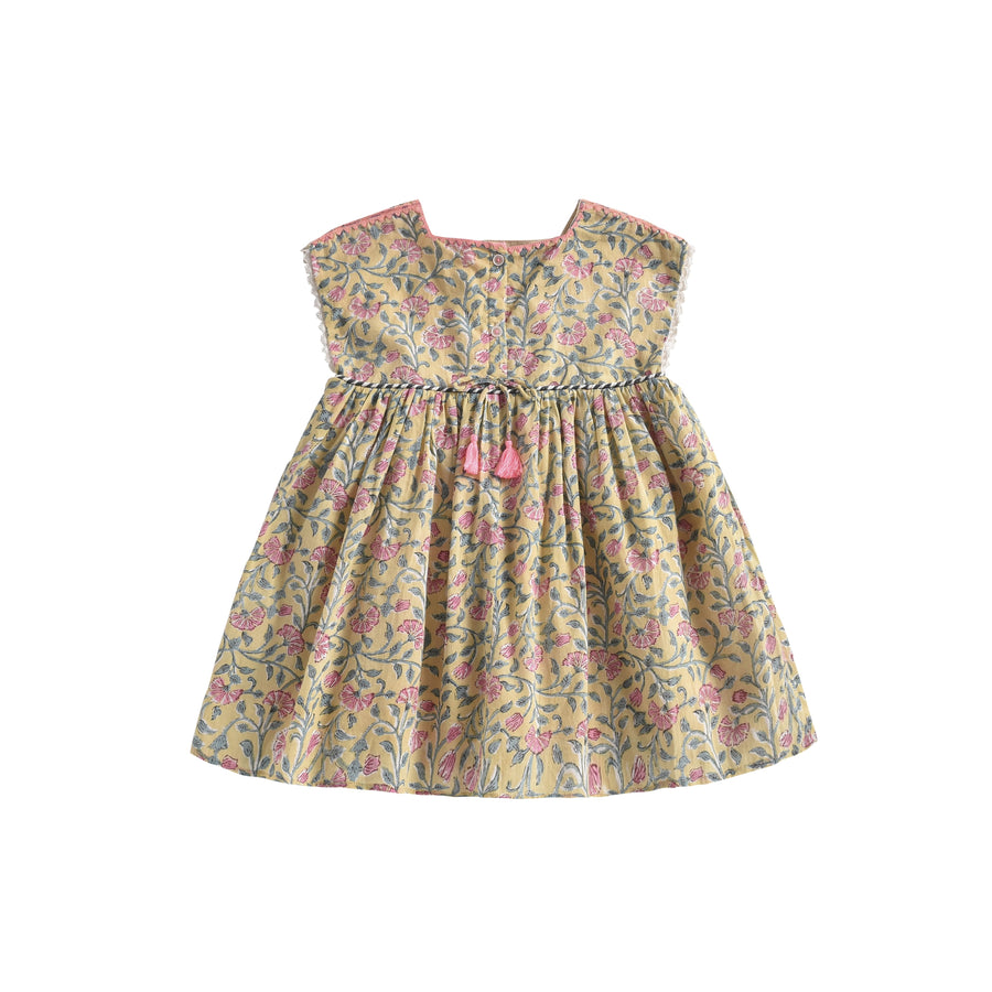 Tapalpa Dress Lemon Flowers