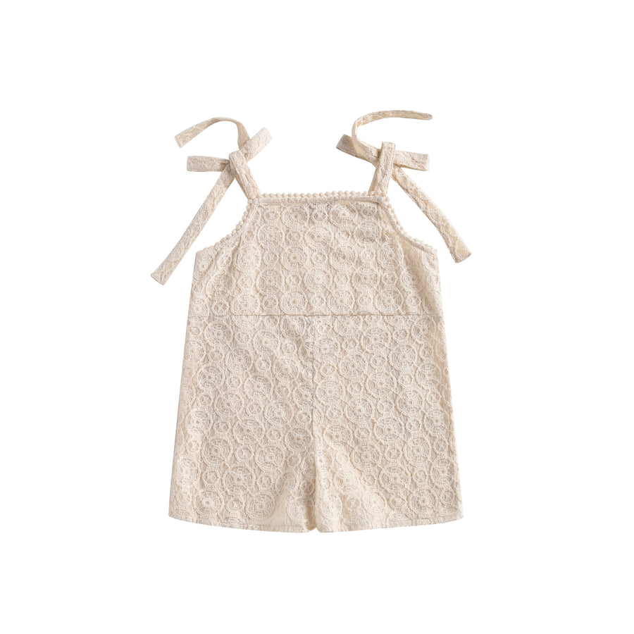Karla Overalls Cream Sparkle Lace