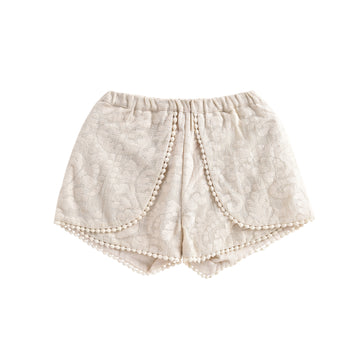 Velinda Shorts Cream Baroque Lace
