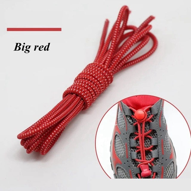 Elastic Shoelaces | Round Locking No Tie Shoelaces