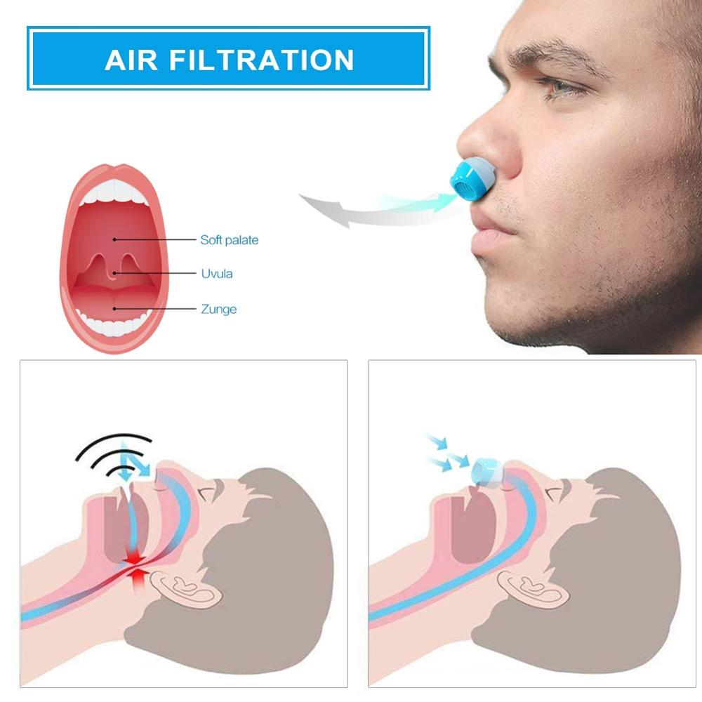 Silicone anti snoring Nasal Dilators | Anti Snore Nose Clip Sleep Tray