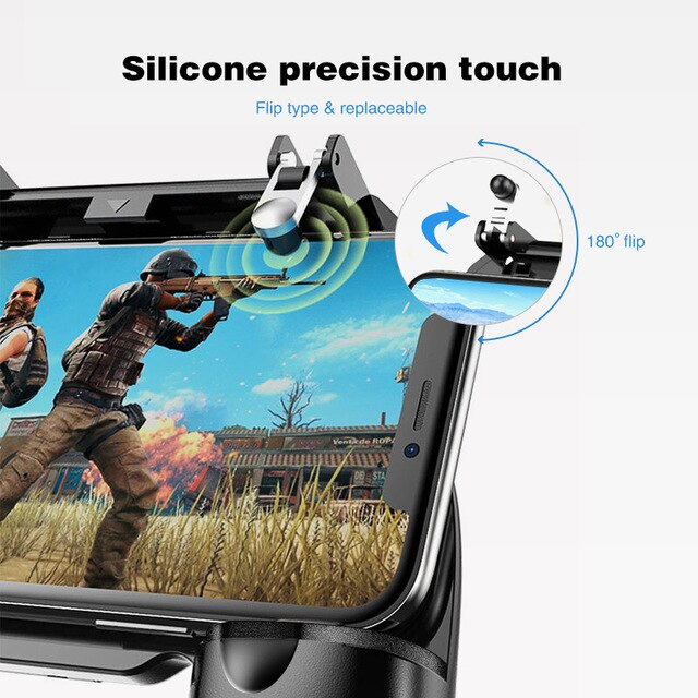 Gamepad For Mobile Phone Game Controller, L1 R1 Shooter Trigger