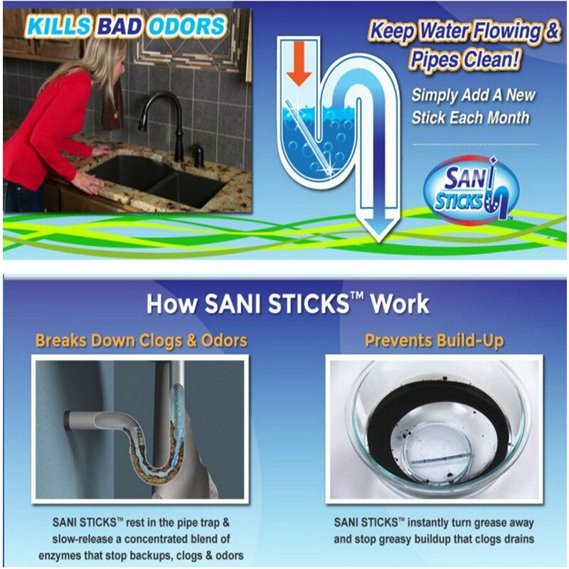 Sani Sticks Oil Decontamination Drain Sewer Cleaner