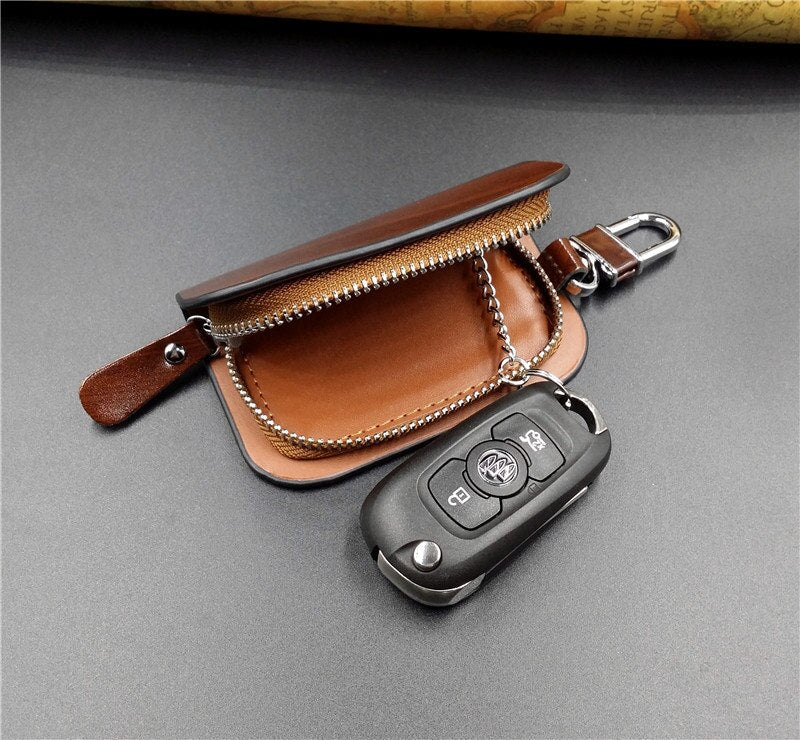Personalized Leather Car Key Case