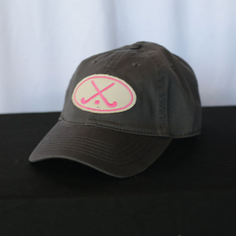 Field Hockey - Grey and Pink Field Hockey Hat