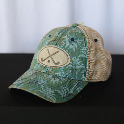 Field Hockey - Blue Pattern Field Hockey Trucker Hat