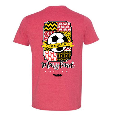 Soccer - Maryland Soccer Heather Red Short Sleeve Tee