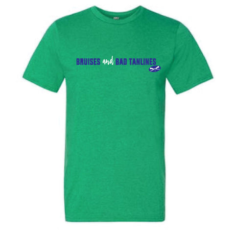 Lacrosse - Bruises and Bad Tanlines Heather Green Short Sleeve
