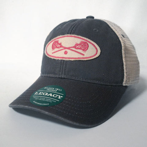 Lacrosse - Grey and Pink Lacrosse Trucker Hat