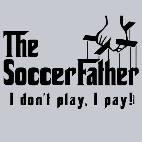 Soccer - Soccer Father Sport Grey Short Sleeve