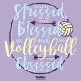 Volleyball - Stressed, Blessed, Volleyball Obsessed Short Sleeve Tee