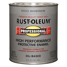 Rust-Oleum Professional Ready Mix Flat Aluminum Enamel Interior/Exterior Paint (Actual Net Contents: 32-fl oz)