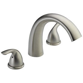 Delta 2-Handle Residential Deck Mount Roman Bathtub Faucet