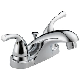New Lower Price; Delta Foundations Chrome 2-Handle 4-in Centerset WaterSense Bathroom Sink Faucet with Drain