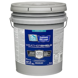 HGTV HOME by Sherwin-Williams Weathershield Extra White Flat Exterior Tintable Paint (Actual Net Contents: 620-fl oz)