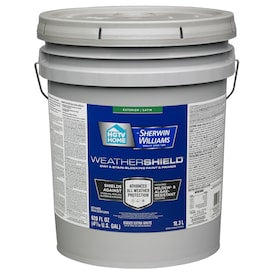 HGTV HOME by Sherwin-Williams Weathershield Extra White Satin Exterior Tintable Paint (Actual Net Contents: 620-fl oz)