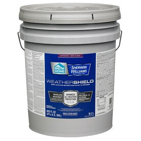 HGTV HOME by Sherwin-Williams Weathershield Extra White Semi-Gloss Exterior Tintable Paint (Actual Net Contents: 620-fl oz)
