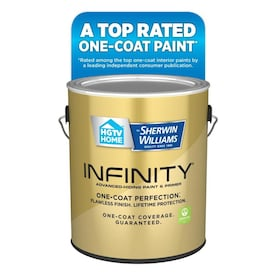 HGTV HOME by Sherwin-Williams Infinity Ultra White/Base A Satin Latex Tintable Paint (Actual Net Contents: 128-fl oz)