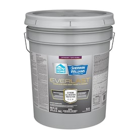 HGTV HOME by Sherwin-Williams Everlast Ultra White/Base1 Semi-Gloss Exterior Tintable Paint (Actual Net Contents: 630-fl oz)